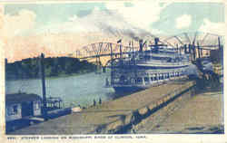 Steamer Landing On Mississippi River At Clinton
