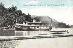 Steamer Clearwater At Dock, 4th Lake