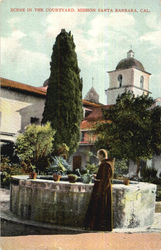 Scene In The Courtyard Postcard