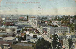 Birdseye View Of Los Angeles From Court House Postcard
