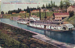 Columbia River Steamers In Cascade Locks