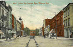 Center St. Looking East Postcard