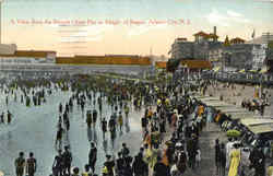 A View From The Steeple Chase Pier At Height Of Season Postcard