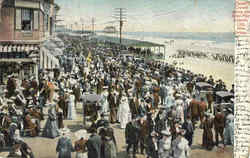 Easter Crowd Above Steel Pier
