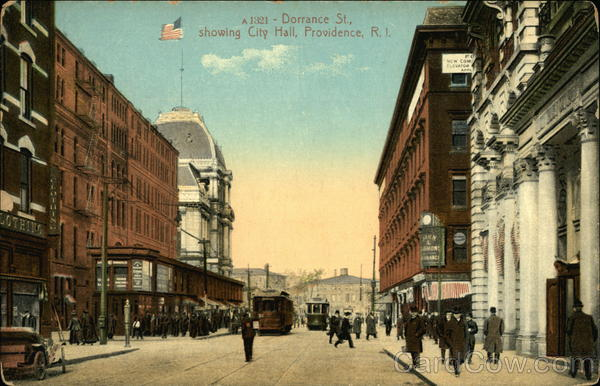 Dorrance Street, Showing City Hall Providence Rhode Island