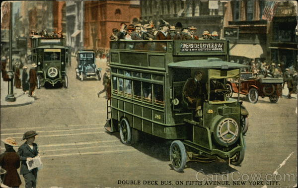 Double Deck Bus, on Fifth Avenue New York City