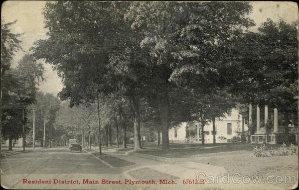 Resident District Main Street Plymouth Mi