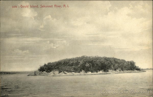 Gould Island in the Sakonnet River Jamestown Rhode Island