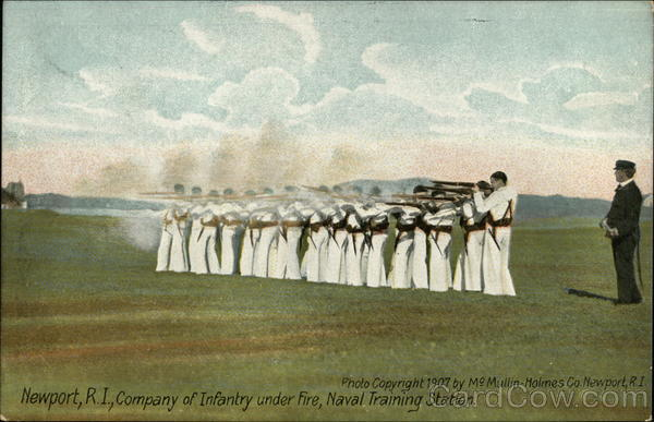 Company of Infantry Under Fire, Naval Training Station Newport Rhode Island