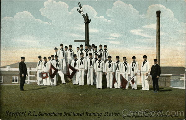 Semaphore Drill Naval Training Station Newport Rhode Island