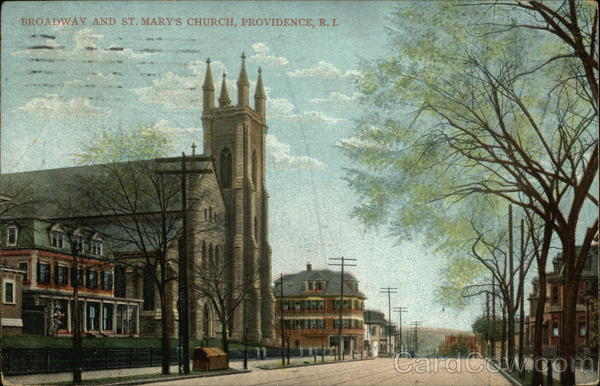 Broadway and St. Mary's Church Providence Rhode Island