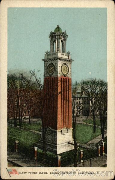 Carry Tower Clock, Brown University Providence Rhode Island
