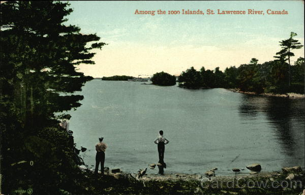 Among the 1000 Islands, St. Lawrence River Thousand Islands Canada
