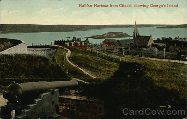 Halifax Harbour from Citadel Showing George's Island Canada