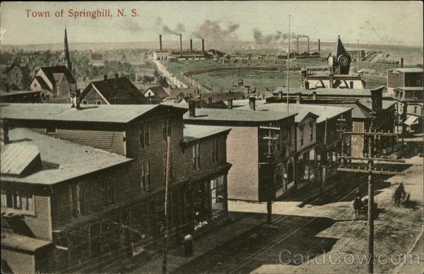 View of the Town of Springhill Canada Nova Scotia