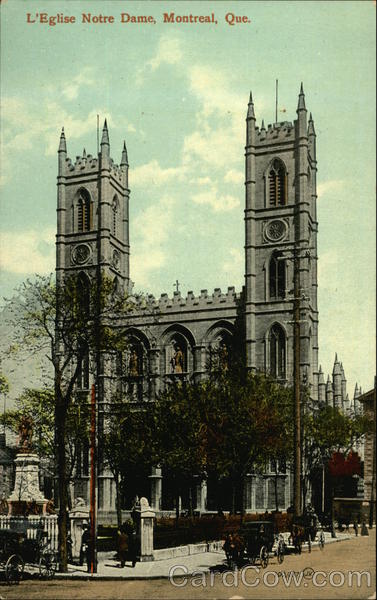 L'Eglise Notre Dame Montreal Canada Quebec