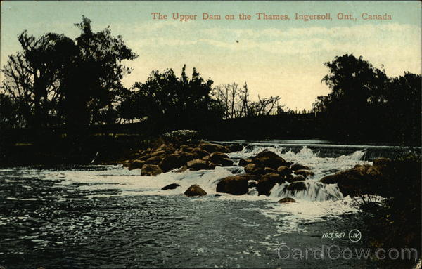 The Upper Dam on the Thames Ingersoll Canada Ontario
