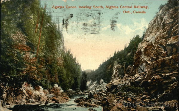 Agawa Canon Looking South, Algoma Central Railway Canada