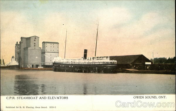 CPR Steamboat and Elevators Owen Sound CAnada Ontario