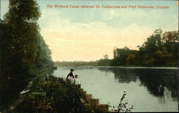 Old Welland Canal Between St Catharines and Port Dalhousie Canada