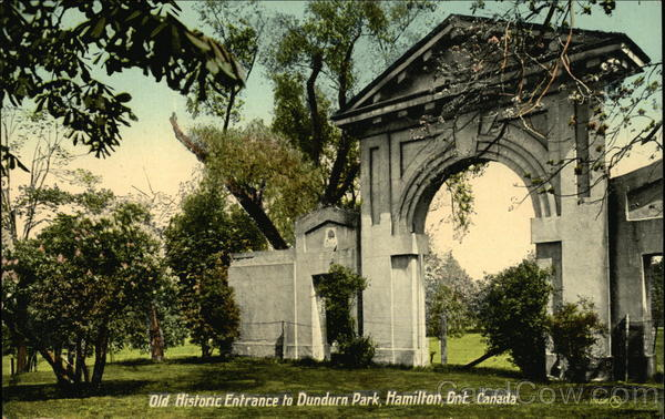 Old Historic Entrance to Dundurn Park Hamilton Canada