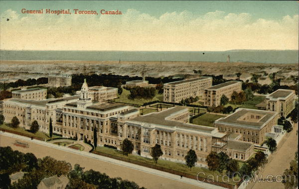 Bird's Eye View of General Hospital Toronto Canada
