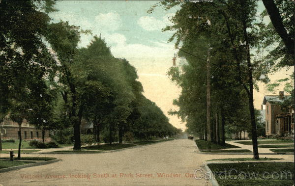 Victoria Avenue Looking South at Park Street Windsor Canada