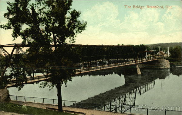 The Bridge Across the River Brantford Canada Ontario