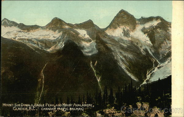 Mount Sir Donald, Eagle Peak and Mount Avalanche Glacier Canada