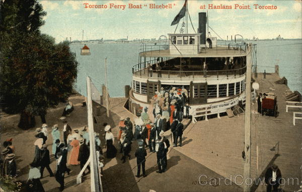 Toronto Ferry Boat Bluebell at Hanlans Point Canada