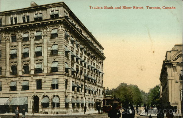 Traders Bank and Bloor Street Toronto Canada Ontario