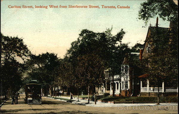 Carlton Street, looking West from Sherbourne Street Toronto Canada