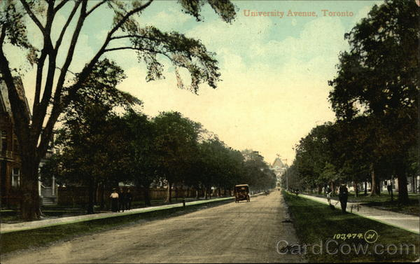 Residential View of University Avenue Toronto Canada