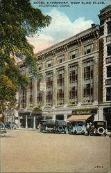 The New Hotel Davenport on Boston Port Road Opposite West Park Postcard