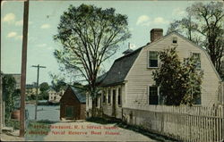 Street Scene, Showing Naval Reserve Boat House Postcard