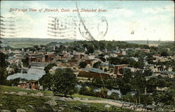 Bird's Eye View of Town and Shetucket River
