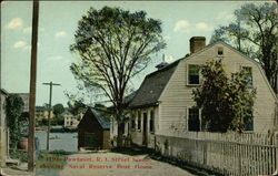 Street Scene showing Naval Reserve Boat House Postcard