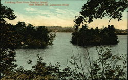 Looking East from Granite Island, 1000 Islands, St. Lawrence River