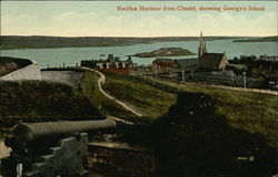 Halifax Harbour from Citadel Showing George's Island