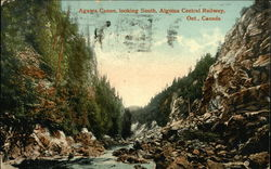 Agawa Canon Looking South, Algoma Central Railway
