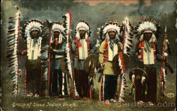 Group of Sioux Indian Chiefs Native Americana