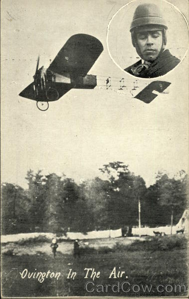 Earle Ovington in the Air - Early Plane Aviators