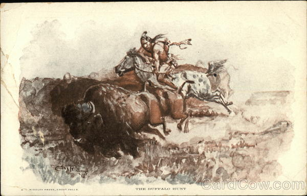 The Buffalo Hunt Charles Marion Russell Native Americana