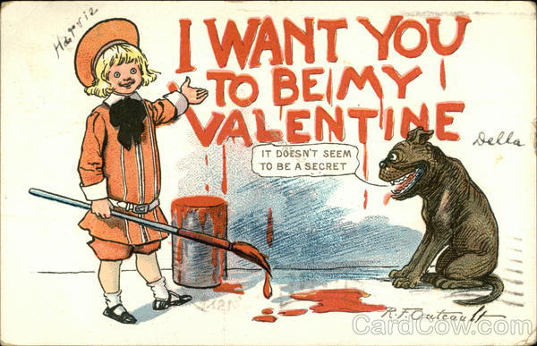 I Want You To Be My Valentine R. F. Outcault Comic