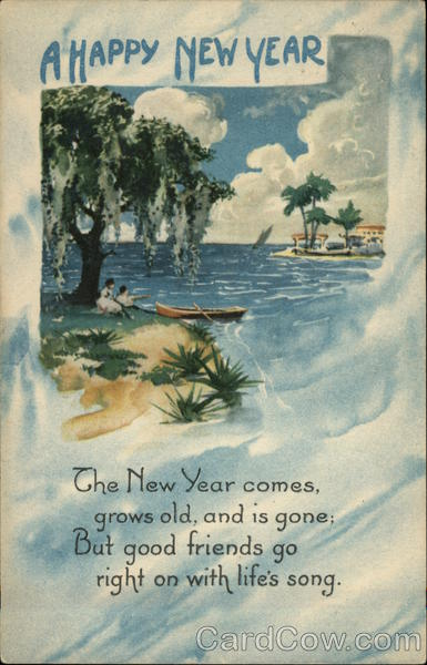 A Happy New Year - Tropical Scene New Year's