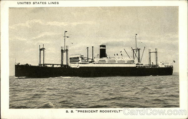 United States Lines - S. S. President Roosevelt Boats, Ships