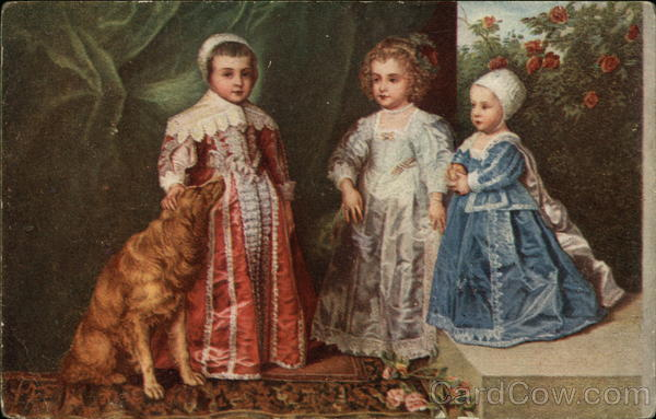 The Children of Charles I by Anthony Van Dyck Art