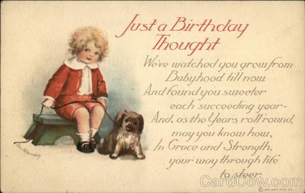 Just a Birthday Thought Ellen Clapsaddle