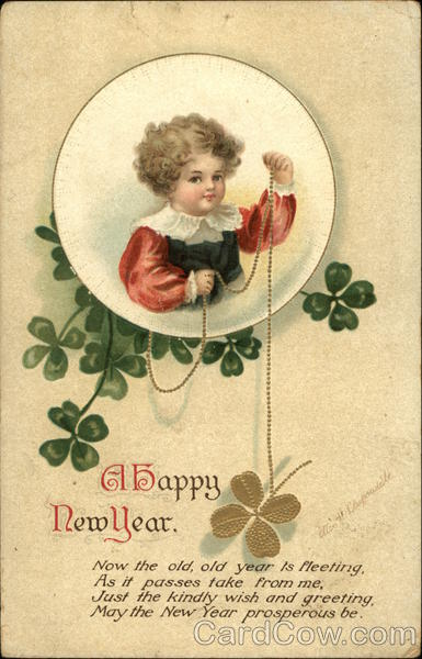 A Happy New Year Ellen Clapsaddle Children