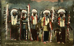 Group of Sioux Indian Chiefs